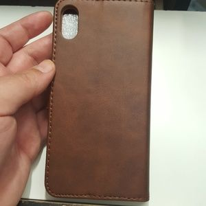"""unbranded Accessories - Wallet case for iphone xs max 6.5"""" brown leather"""